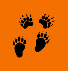 bear trails icon vector image