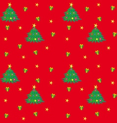 Christmas Tree Texture vector image vector image