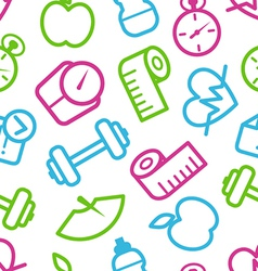 Fitness pattern vector image vector image