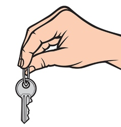 Hand holding key vector image vector image