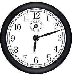 Modern clock vector image vector image