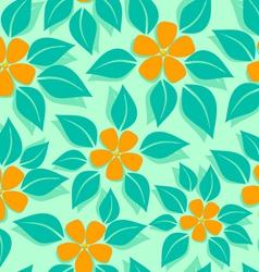 tropical pattern orange vector image vector image