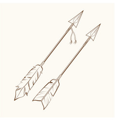 arrows american indian symbol vector image