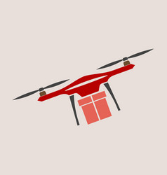 concept for delivery service delivery drone with vector image