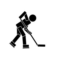 hockey player pictogram vector image