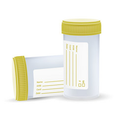 The sterile plastic container for medical analyzes vector