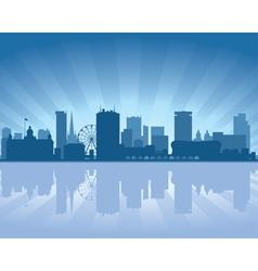 birmingham skyline vector image vector image