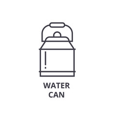 water can line icon outline sign linear symbol vector image vector image