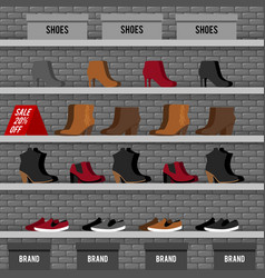 with shoes vector image