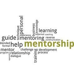 word cloud mentorship vector image