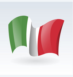 3d waving flag italy isolated on white vector image