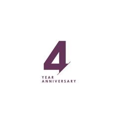 4 years anniversary celebration template design vector