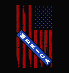 4th july t shirts design graphic vector image