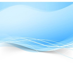Abstract blue transparent wave background vector