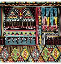 Abstract colorful ethnic seamless pattern vector image