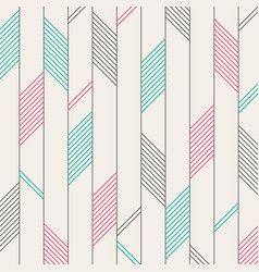 abstract of color red green black stripes pattern vector image