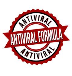 antiviral formula label or sticker vector image