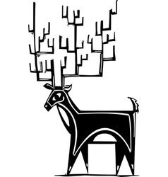 Antlers Reindeer vector image