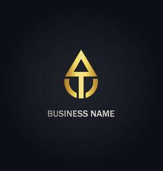 Arrow up gold logo vector
