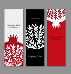 Banners design pomegranate background vector