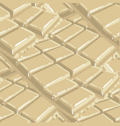 bars white chocolate repeated seamless vector image