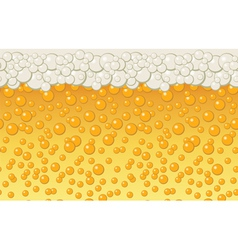Beer bubbles background vector image