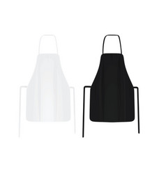 black and white kitchen apron vector image