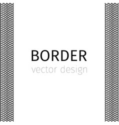 black border with guilloches vector image
