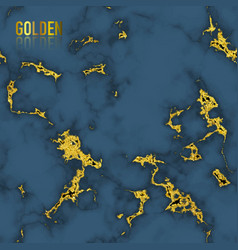 blue marble with gold foil texture seamless vector image