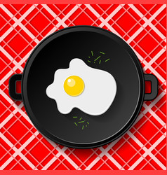 breakfast fried eggs vector image