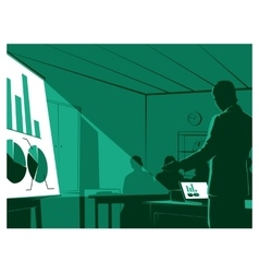 Businessman presenting to his audiences vector