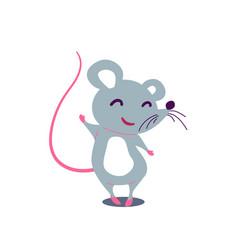 cartoon cute rat in simple flat style vector image
