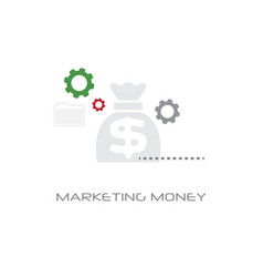 cash savings bag icon business marketing money vector image