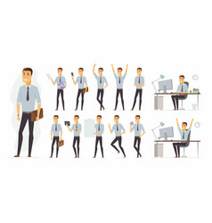 cheerful businessman - cartoon people vector image