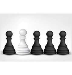 chess pawns vector image