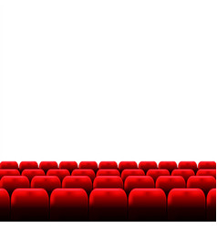 Cinema auditorium with screen and red seats vector