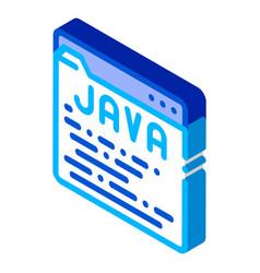 Coding language java system isometric icon vector