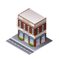 Color Isometric Building vector image