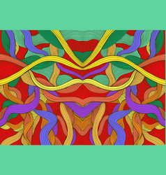 Colorful abstract symmetrical psychedelic pattern vector