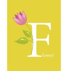 Colourful Alphabet Card vector image