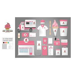 corporate identity template set 7 logo concept vector image