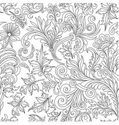 Decorative vintage flowers seamless pattern good vector