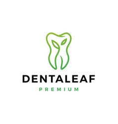 dental leaf logo icon vector image