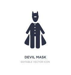 Devil mask icon on white background simple vector
