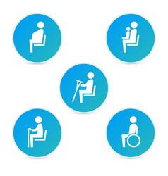 Disabilities and seniors cripple pregnant mom vector