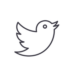 Dovetwitter line icon sign vector