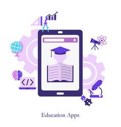 education app concept education app concept vector image