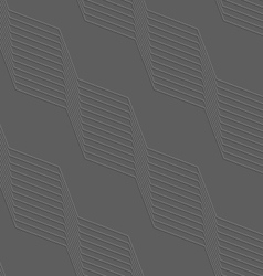 Embossed geometrical pattern with diagonal lines vector