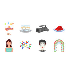 Event organisation icons in set collection for vector