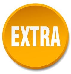 extra orange round flat isolated push button vector image